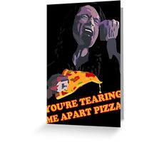 Tear-Apart Pizza Greeting Card