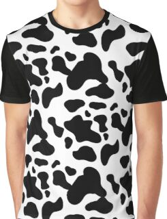 cow texture pattern repeated seamless black and white Graphic T-Shirt