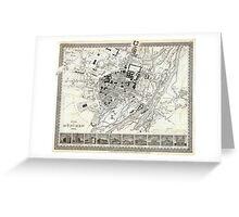 Plan of Munich - 1844 Greeting Card