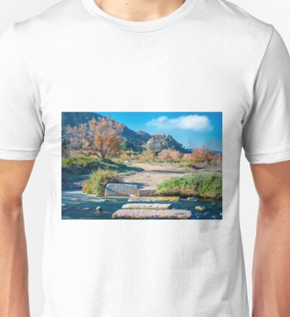 Vinalopó steps and the Monastery Unisex T-Shirt