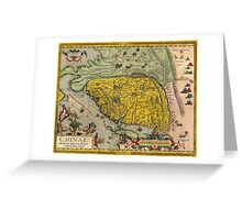 Map of China - Ortelius - 1584 Greeting Card