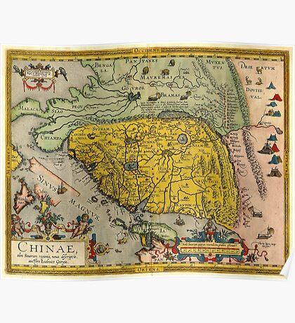 Map of China - Ortelius - 1584 Poster