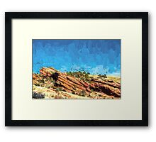 Among the Rocks Framed Print