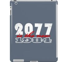2077 is the new 1984 (white) iPad Case/Skin