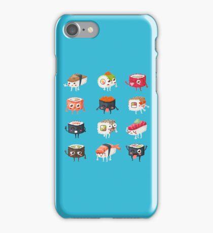 Sushi Rolls: Cute & Funny Sushi Friends Pattern iPhone Case/Skin