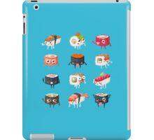 Sushi Rolls: Cute & Funny Sushi Friends Pattern iPad Case/Skin