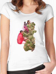 Selling vegetables, Badami, Kanartaka, India Women's Fitted Scoop T-Shirt