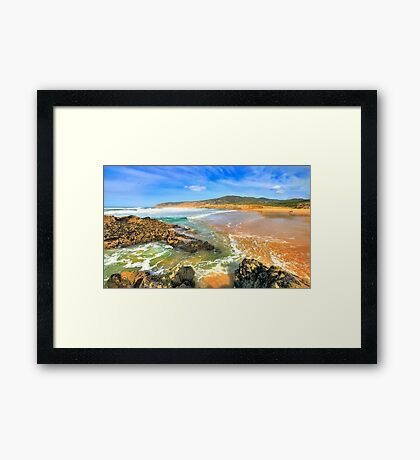 golden sand. praia do guincho Framed Print