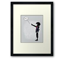 Boy with Robot Framed Print