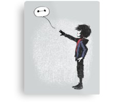 Boy with Robot Metal Print