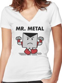 Mr. Metal Women's Fitted V-Neck T-Shirt