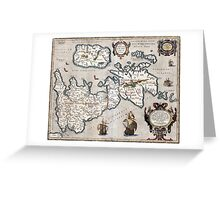 Map of The British Isles - Ortelius - 1595 Greeting Card