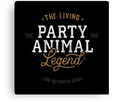 Party Animal - shirt Canvas Print