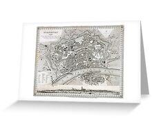 Plan of Frankfurt - 1845 Greeting Card