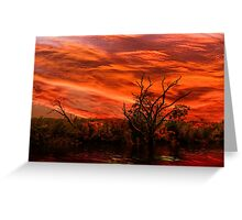 Dusk on the Bayou Greeting Card