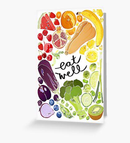 Eat Well - Fruit n Veg Greeting Card