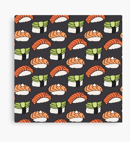 Sushi lovers Canvas Print