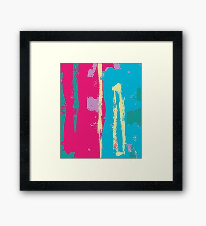 Bold Colour Abstract Expressionist Print Framed Print