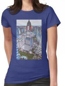 New York on my mind - (Chrysler Building) Womens Fitted T-Shirt