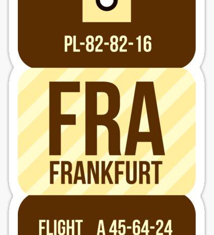 Frankfurt Trip Tag Sticker