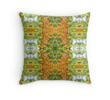Orange Kangaroo Paw Pattern Throw Pillow