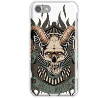 Hell motor- Demon- Skull- Vintage iPhone Case/Skin