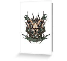 Hell motor- Demon- Skull- Vintage Greeting Card