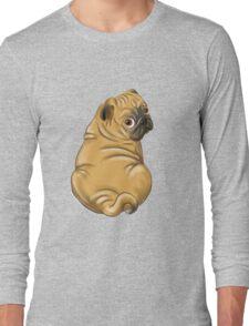 Squishy Pug rolls  Long Sleeve T-Shirt