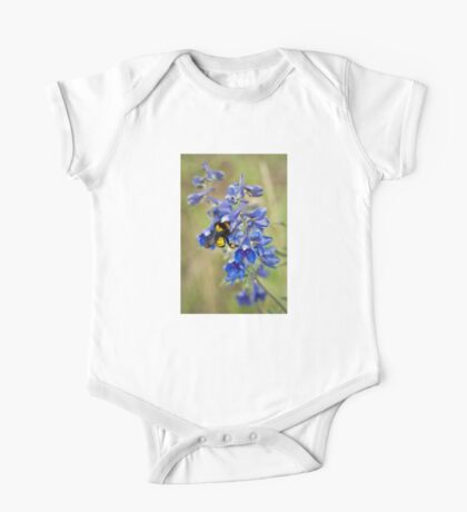 Bumble Bee On Larkspur One Piece - Short Sleeve
