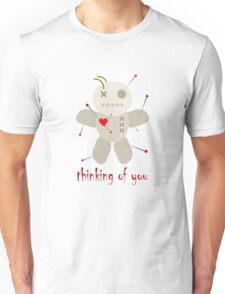 Thinking of You Voodoo Doll Goth Unisex T-Shirt