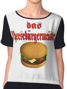 das Cheesburgermeister Chiffon Top