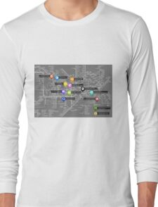 Sherlock Tube Map (Dark) Long Sleeve T-Shirt