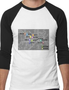 Sherlock Tube Map (Dark) Men's Baseball ¾ T-Shirt