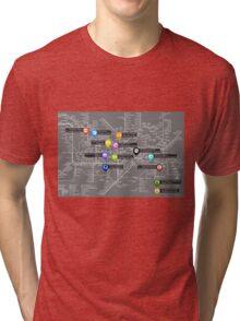 Sherlock Tube Map (Dark) Tri-blend T-Shirt