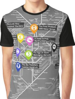 Sherlock Tube Map (Dark) Graphic T-Shirt