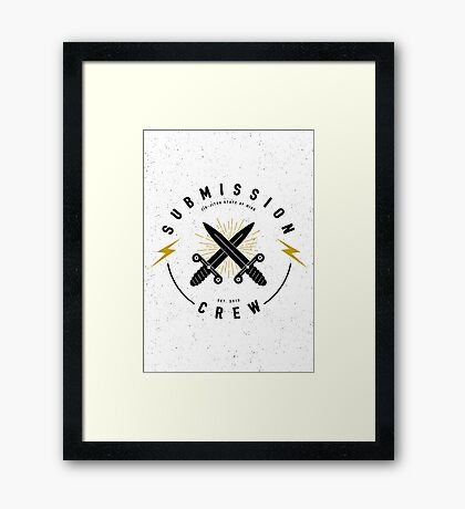 Jiu-jitsu. Submission crew. Framed Print