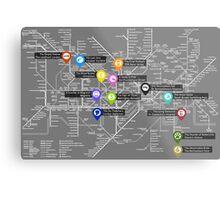Sherlock Tube Map (Dark) Metal Print