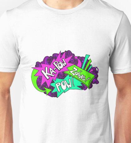Neon Bright Comic Book Word Art Unisex T-Shirt
