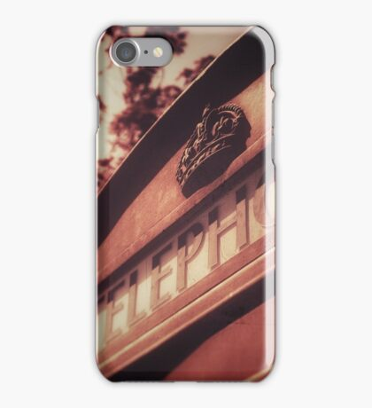 Vintage British Telephone Box iPhone Case/Skin