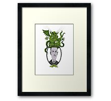 H.P.  and the Snorting Hat Framed Print