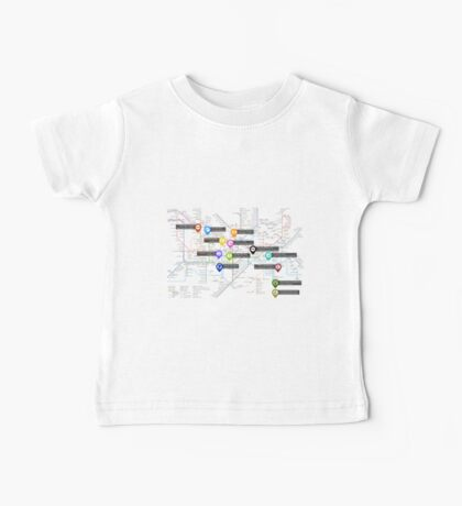 Sherlock Tube Map Baby Tee