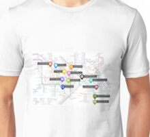 Sherlock Tube Map Unisex T-Shirt
