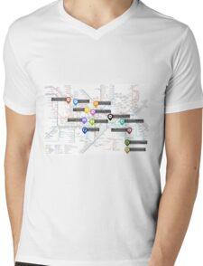 Sherlock Tube Map Mens V-Neck T-Shirt