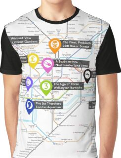 Sherlock Tube Map Graphic T-Shirt