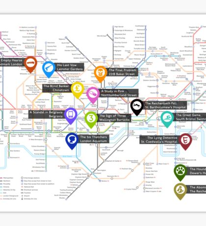 Sherlock Tube Map Sticker