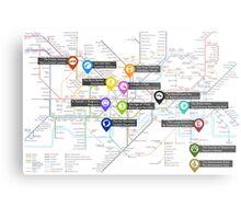 Sherlock Tube Map Metal Print