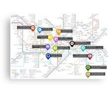 Sherlock Tube Map Canvas Print
