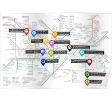 Sherlock Tube Map Poster