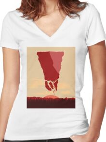 future landscape Women's Fitted V-Neck T-Shirt