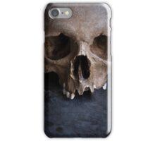 Male skull on rusty metal  iPhone Case/Skin